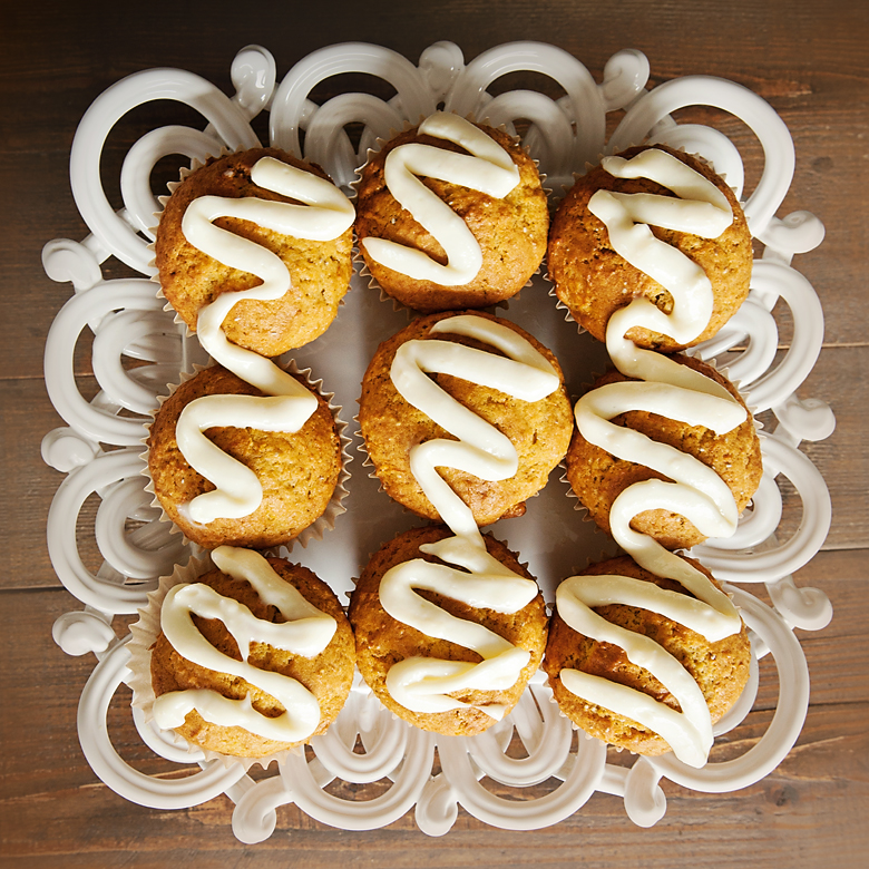 Carrot Muffins with Cream Cheese Frosting